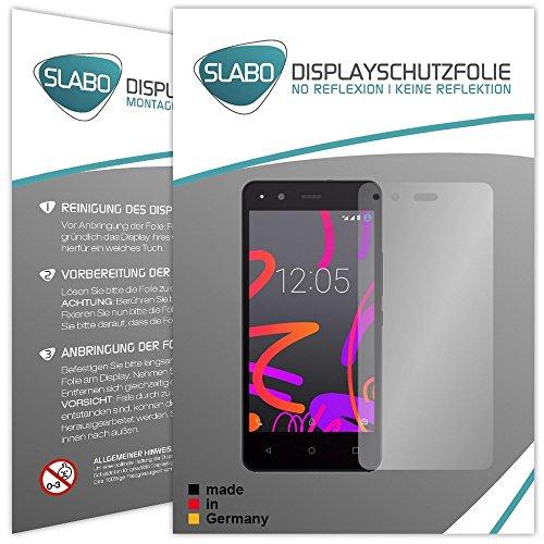 Slabo 2 x Bildschirmfolie für BQ Aquaris M4.5 Bildschirmschutzfolie Zubehör No Reflexion MATT - Made IN Germany