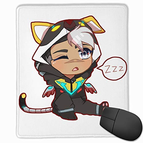 KEEHUA Chibi Voltron Onesie- Shiro W White Hair Non-Slip Rubber Mousepad Gaming Mouse Pad with Stitched Edge 10x12 in