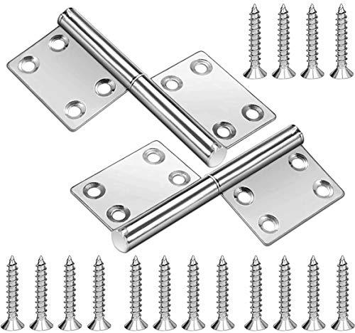 Scharniere Edelstahl Klavierband Tür-Scharnier ideal für Innen & Außenbereich Stabile Türscharniere für Metall & Holztüren Fenster