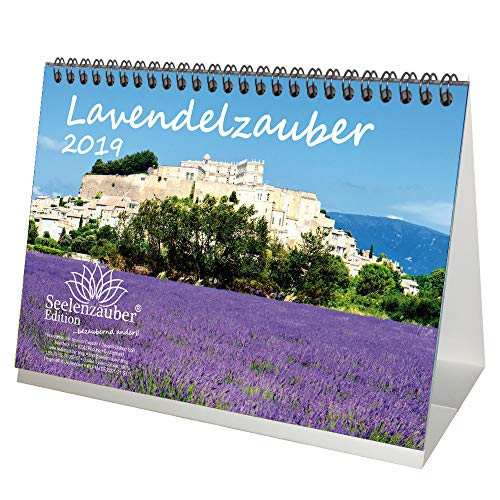 Lavendelmagie · DIN A5 · Premium tafelkalender/kalender 2019 · familie · vrije tijd · lavendel · geur · Provence · Medisch · Plant · Edition Seelmagie