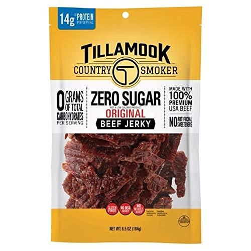 Tillamook Country Smoker Zero Sugar Original Keto Friendly...