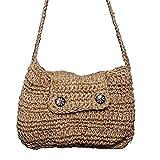 Prime Brown Crochet hecho a mano respetuoso con el medio ambiente bolso de la aleta el mejor uso para salir