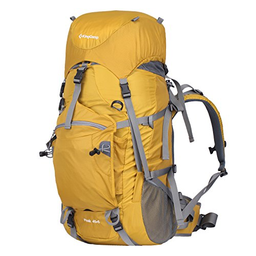 KingCamp 45L+5L Trekkingrucksäcke Wanderrucksäcke Reiserucksack für Camping Wandern und Bergsteigen Wasserdicht Ultraleicht 28 * 66 * 21CM Orange
