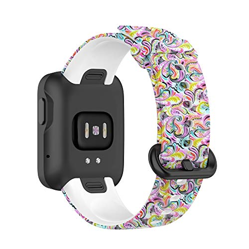 Correas de Reloj,Correa para Xiaomi Mi Watch Lite/Redmi Watch,Bandas Correa Repuesto,Flexible Silicona Reloj Recambio Brazalete Watch Correa Repuesto para Xiaomi Mi Watch Lite/Redmi Watch (Pintada)