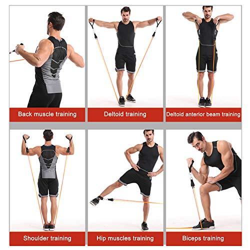 Bandes de Résistance Set Bands de Fitness Elastique Musculation en Latex 100LBS Professionnels Entraînement Homme Femmes Gym,Yoga,Perdre du Poids,Façonner