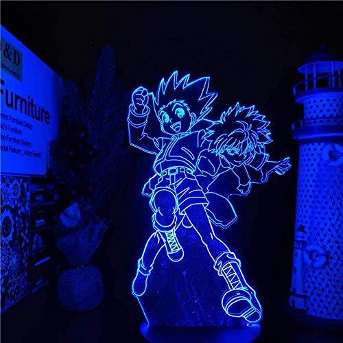 3D veilleuse Anime Hunter X Hunter Gon et Killua Led Illusion lampe USB 7 couleurs lampe de Table pour la décoration intérieure