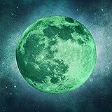 leuchtender Mond (30cm) - Selbstklebender Leuchtmond