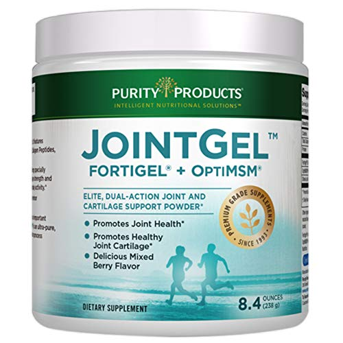 Joint Gel Formula from Purity Products - Bioactive Collagen Peptides + MSM - Supports Joint Function + Flexibility while Fortifying Joint Cartilage - Dual Action, Berry Flavored Powder - 30 Day Supply