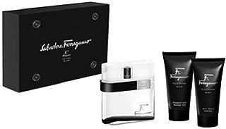 Salvatore Ferragamo F Black Gift Set for Men, 3.4 Fluid Ounce