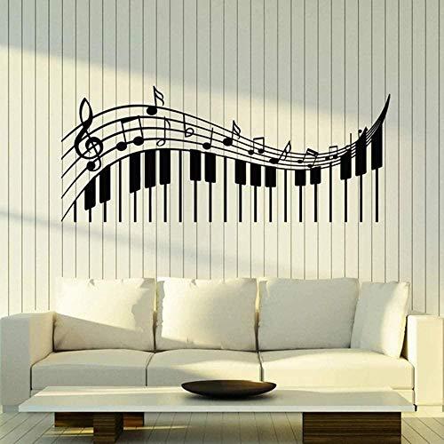Muursticker Decal Treble Clef Muziek Sleutel Muursticker Klassieke Muziek Piano Opmerkingen Muursticker Woonkamer Moderne Woondecoratie 36X85Cm
