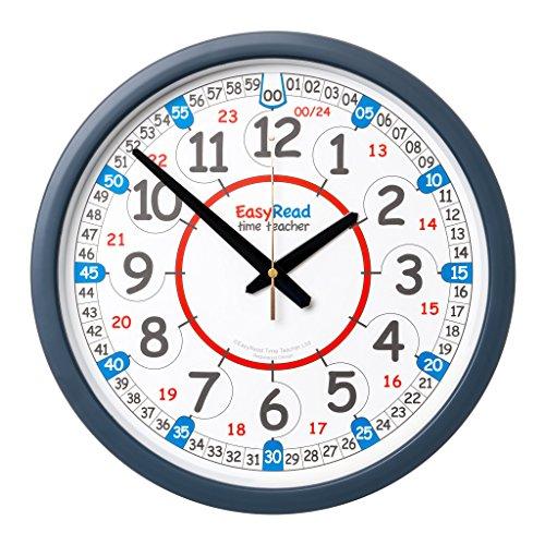Reloj de Clase, 24 Horas de Tiempo de Lectura fácil para Profesor ERCC-Dig.