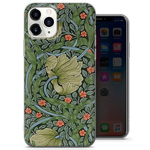 Carcasa de gel para iPhone 6 y 6S, diseño de William Morris Wallpaper, diseño de Petfect Fit D60