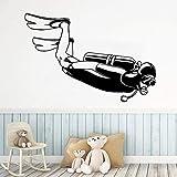 Divertido buceo vinilo rollo de papel tapiz muebles decoración decorativa sala...
