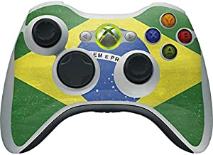Skinit Decal Gaming Skin for Xbox 360 Wireless Controller - Originally Designed Brazil Flag Distressed Design