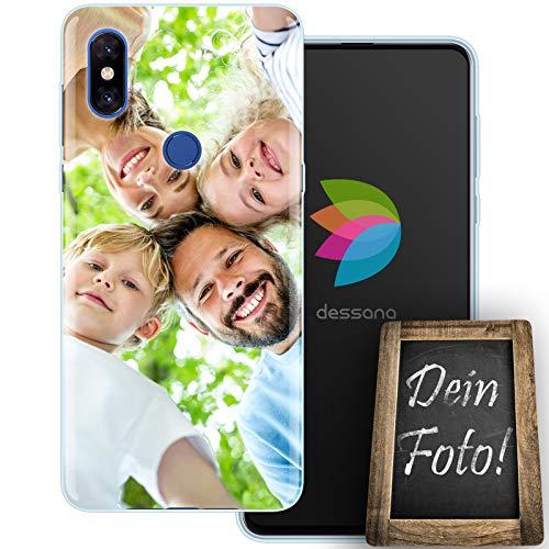 dessana Eigenes Foto durchsichtige Schutzhülle Handy Tasche Hülle für Xiaomi Mi Mix 3