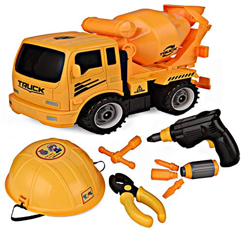 Take Apart Toy Truck & Tool Set for Kids by Think N Thrill - Build Your Own Construction Toy with Lots of Tools & Electric Drill Included - Great Educational Gift Idea for Children - Hours of Fun