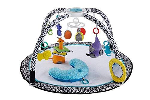 Fisher-Price DFP71 Jonathan Adler Spieldecke Krabbeldecke mit Mobile Spielkissen und 9 Spielzeugen Babyerstausstattung, ab 0 Monaten [Exklusiv bei Amazon]