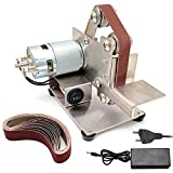 KKmoon Levigatrice a Nastro da Banco Mini Smerigliatrice da Banco Levigatrice a Nastro Multifunzionale Portatile (25mm)