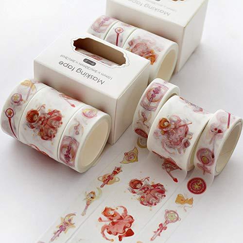 Set de cinta de enmascarar, colección de cintas de enmascarar decorativas, cinta para manualidades y envoltura de regalos, suministros para fiestas de oficina