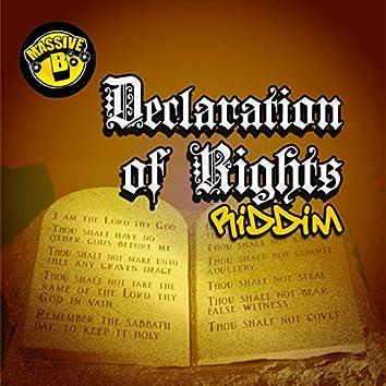 Massive B Presents: Declaration of Rights Riddim