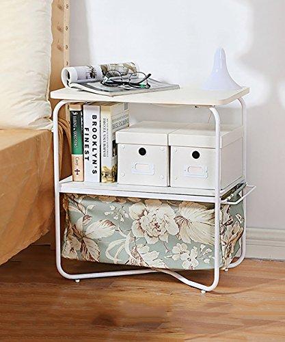 Étagères de table d'angle Moderne Simple Mode Trois couches Rectangle Petite Table basse Canapé Table d'appoint Table ronde de téléphone (7 couleurs disponibles) ( Couleur : G , taille : 50*30*53cm )