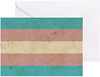 CafePress Vintage Transgender Pride Greeting Card, Note Card, Birthday Card, Blank Inside Matte
