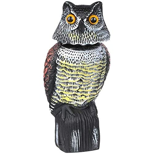 HelpAccess spaventapasseri/Spaventa Piccioni, Repellente Uccelli, Spaventapasseri Dissuasori Piccioni a Forma di Gufo con Occhi Riflettenti (40cm)