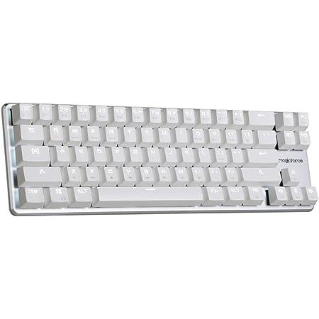 Qisan Gaming Keyboard Mechanical Wired Keyboard Cherry MX Brown Switch Backlight Keyboard 68-Keys Mini Design White