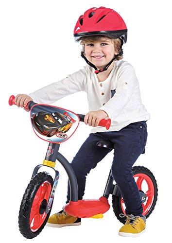 Smoby - 770104 - Cars -  Draisienne Enfant avec Roues Silencieuses - Siège Réglable - Béquille Intégrée