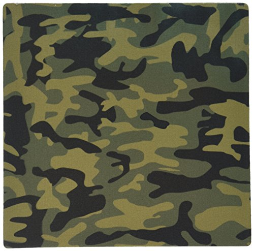 3dRose LLC 8 x 8 x 0.25 Inches Mouse Pad, Dark Green Camo Print Hunting Hunter Or Army Soldier Uniform Style Camouflage Woodland Pattern (mp_157596_1)