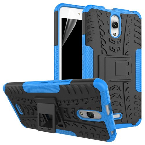 betterfon | Outdoor Handy Tasche Hybrid Case Schutz Hülle Panzer TPU Silikon Hard Cover Bumper für Alcatel Pixi 4 (6 Zoll) Blau