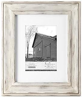 Malden International Designs Whitman White Wash Matted Wood Picture Frame, 5x7/8x10, White (B00N8YQAV8) | Amazon price tracker / tracking, Amazon price history charts, Amazon price watches, Amazon price drop alerts