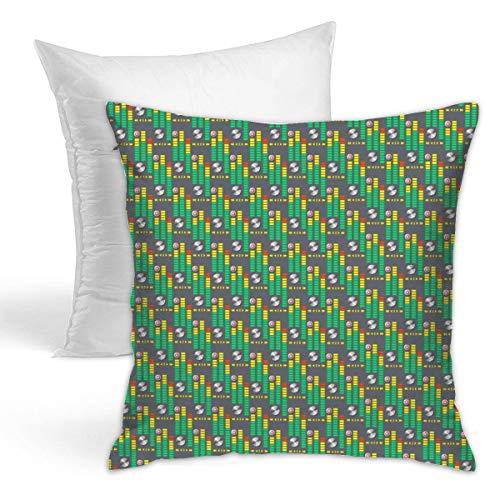 ruziniujidiangongsi Sound Bars 45 X 45cm Popular Pillowcase Hold Pillow Suitable For Sofa Cushion and Bed Pillow Fashion Pillow