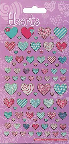 Hearts Motif Fun déjoué réutilisables Autocollants 01.70.04.028