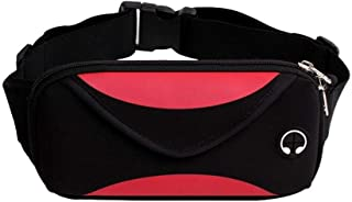 YWSCXMY-AU Fashion Men Waist Pack Unisex Waterproof Fanny Pack Phone Wallet Pouch Bags (Color : Red)