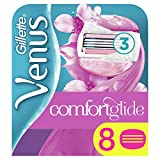 Venus ComfortGlide Spa Breeze Recambio de Maquinilla, con Barras de Gel, Sin Necesidad de Gel de Depilación - 8 unidades