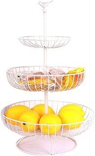 Chefarone Obst Etagere Etageren mit Obstschalen Obstschale Metall f/ür mehr Platz auf der Arbeitsplatte dekorativer Obstkorb schwarz 36 x 36 x 52 cm