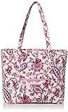 Vera Bradley Signature Cotton Vera Tote Bag, Felicity Paisley Pink