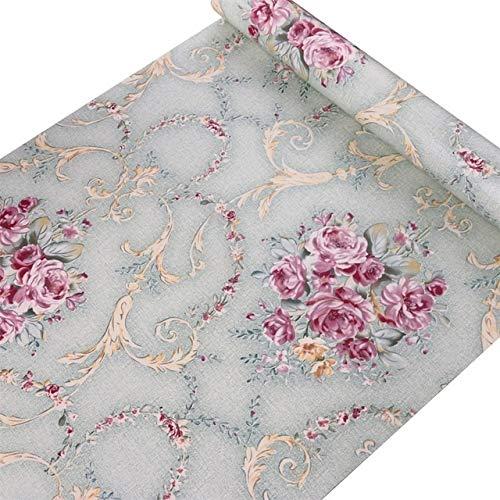 jidan 45cmx10m Blume Klassische 3D-Tapete PVC wasserdichtes selbstklebendes Wandpapier for dekorative Innen (Color : 9005, Dimensions : 10mx45cm)
