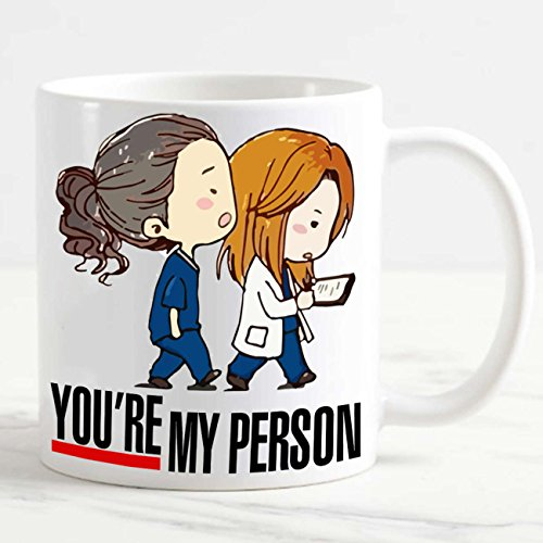 csm Informatica Tazza Mug Personalizzata Grey's Anatomy You Are My Person Caricatura Serie TV