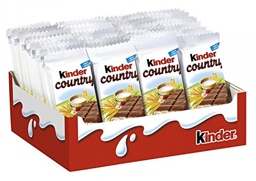 Kinder Chocolate with cereals bars Pack of 40 Bars