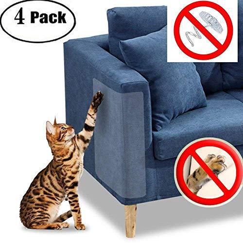 Protector de muebles Cat Scratch Guard - Cuatro protectores por paquete - (18.5 'L x 5.9' W) - Mejor protección contra arañazos de mascotas - ¡Ame sus muebles y su gato!