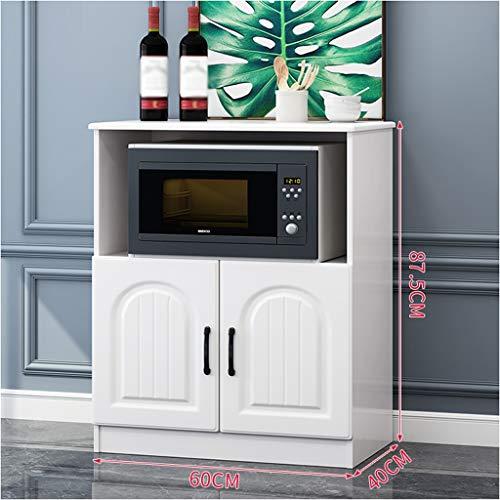 Stumm wit dressoir moderne eenvoud keukenkast eenvoudige kast losse thee kast multifunctioneel draagbare magnetron oven oven kast 60 x 40 x 87,5 cm XMJ