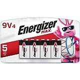 Energizer 9V Premium Alkaline 9 Volt Batteries, 4 Count (Pack of 1)