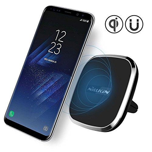 Caricatore Wireless Auto, Nillkin 2-in-1 Qi Caricatore senza fili di ricarica e supporto magnetico per auto per Samsung Galaxy Note 8 S8 S8 Plus e iPhone X/ 8/8 Plus e altri dispositivi Qi