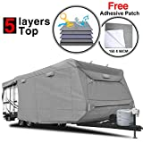 RVMasking Heavy Duty 5 Layers Travel Trailer RV Cover, Fits 28'7' -...