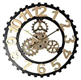 SCJ Reloj de Pared Industrial, Reloj de Pared rústico Retro