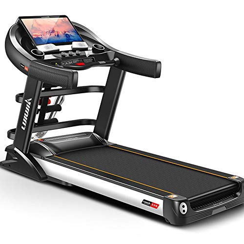YRRA Profi-Laufband-Deutsches Qualitätsmarken-Selbstschmiersystem, bis zu 20 km/h Bluetooth MP3, klappbarer HRC, großes Profil, TÜV/GS, Gewicht bis 200kg