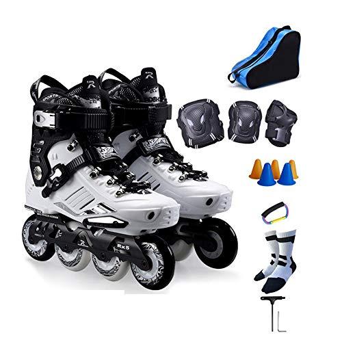 YUMEIGE Skates Volwassen Roller Skate, Professional Platte schoenen, Skeelers & rolschaatsen, 360-graden Stereo Ventilatie, Quad Rolschaatsen, met Sports Beschermende kleding