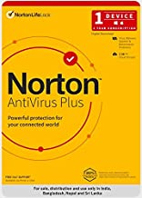 Norton Antivirus Plus | 1 User 1 Year |Includes Smart Firewall & Password Manager | PC or Mac | Code emailed in 2 hrs